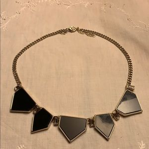 Express necklace with black stones and crystals